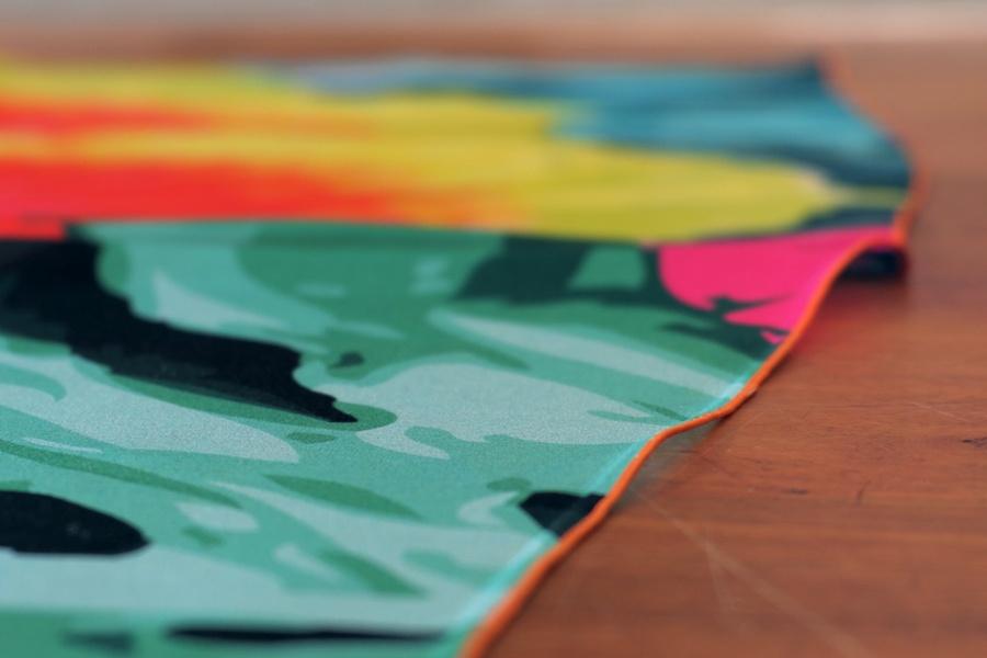 qualité d'impression numérique d'un foulard