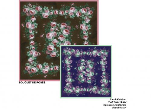 reproduction d'oeuvres d'art sur foulard en soie pour la boutique de musée